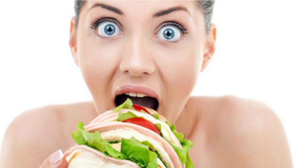 Mayor apetito e ingesta de calorías