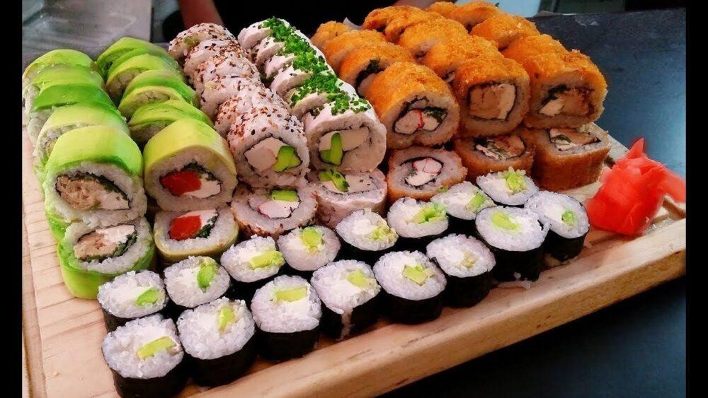 El aguacate en sushi es como una crema