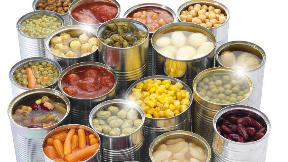 Evite los alimentos envasados