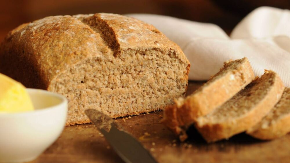 Pan de centeno germinado