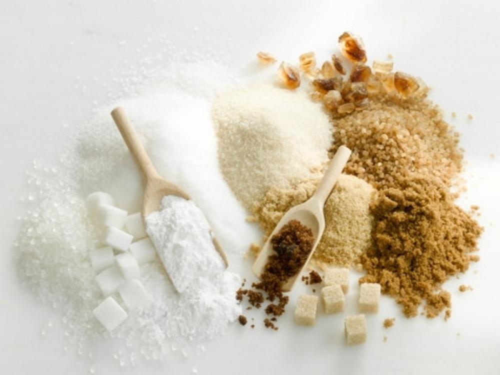 Usando muchos tipos diferentes de azúcar