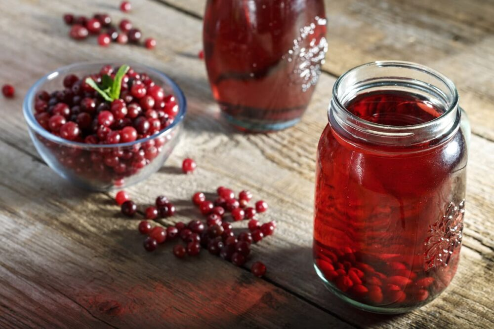 Beber jugo de arándano sin azúcar