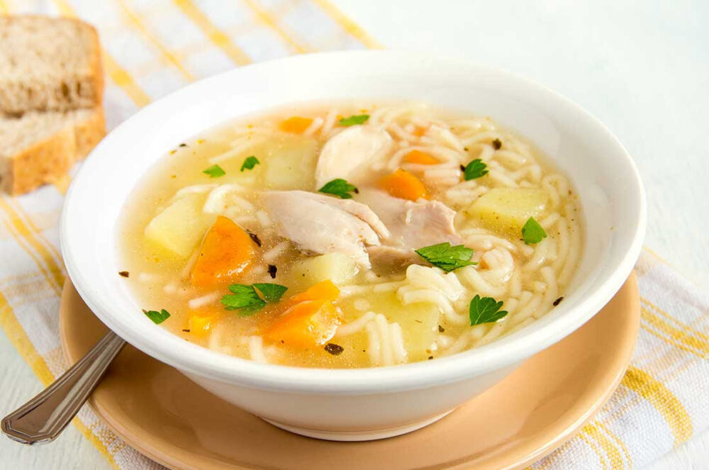 Caldo de Pollo, Carne o Vegetales