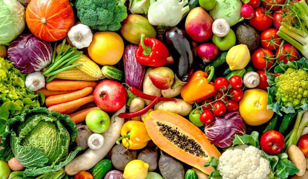 Coma más vegetales y frutas