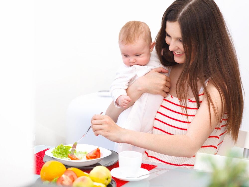 Dieta de lactancia 101 - Qué comer durante la lactancia
