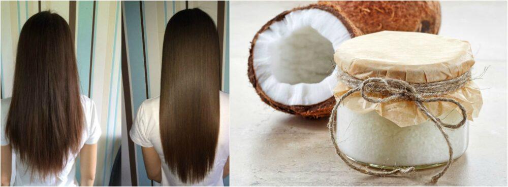 El aceite de coco podría ayudarle a hacer crecer su cabello más largo
