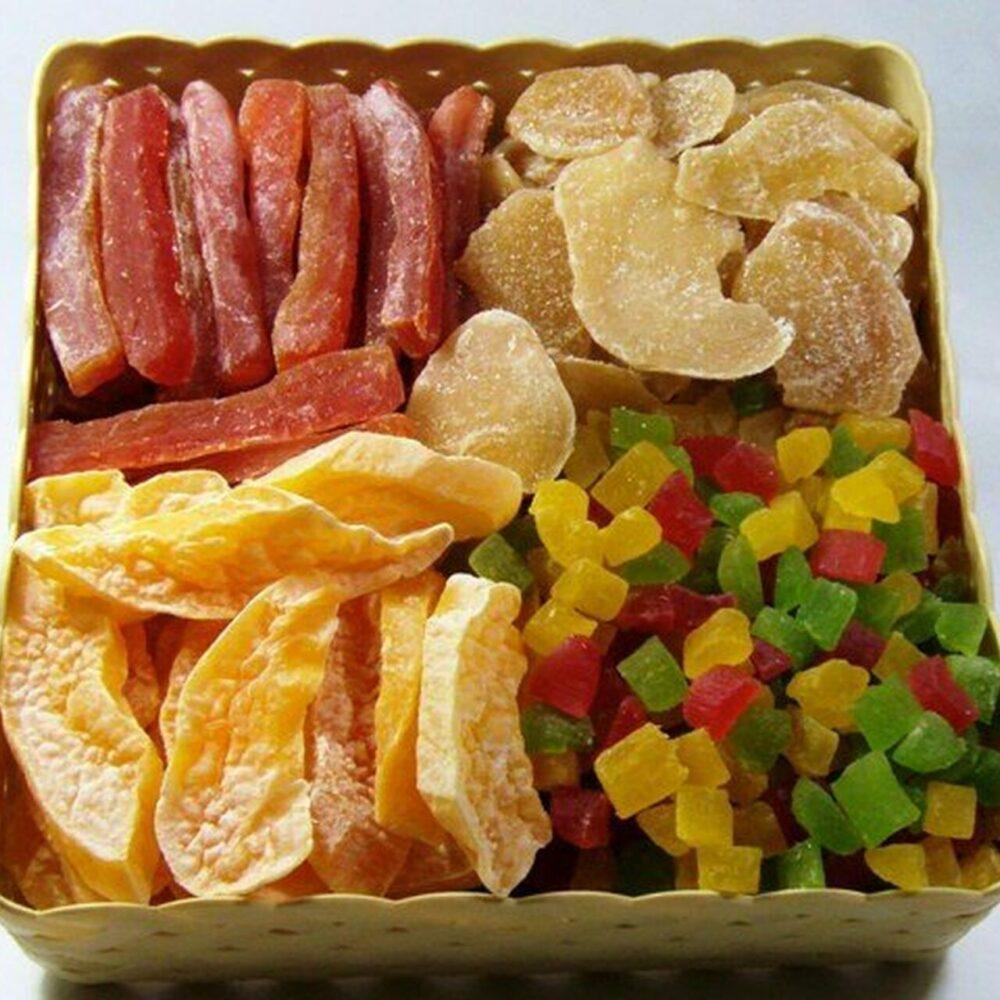 Evite las frutas secas con azúcar agregada (frutas confitadas)