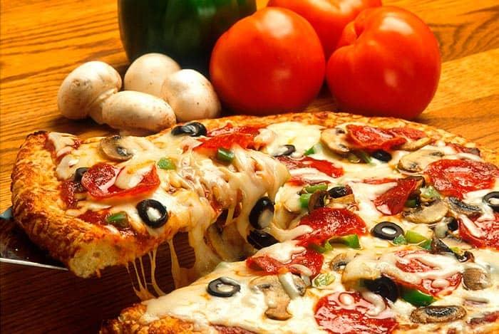La mayoría de las pizzas