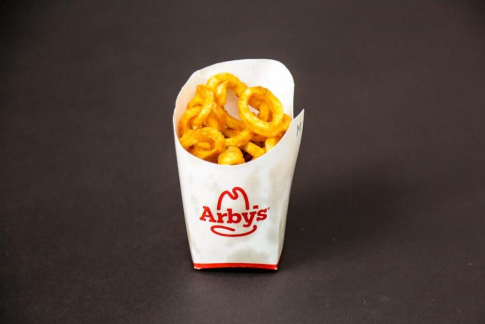 Las papas fritas Arby's Curly Fries