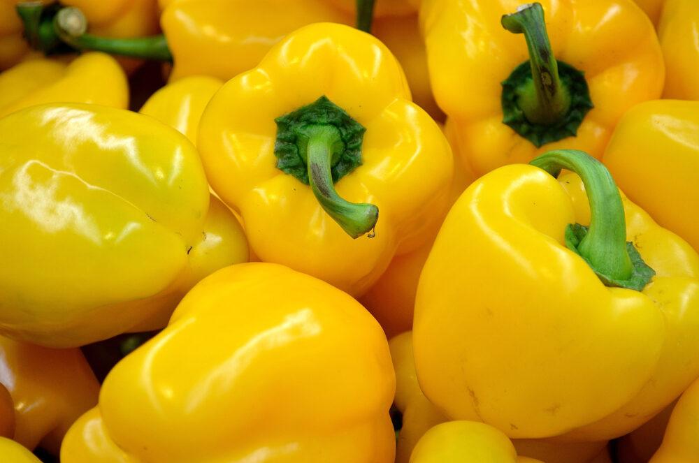 Pimientos amarillos dulces
