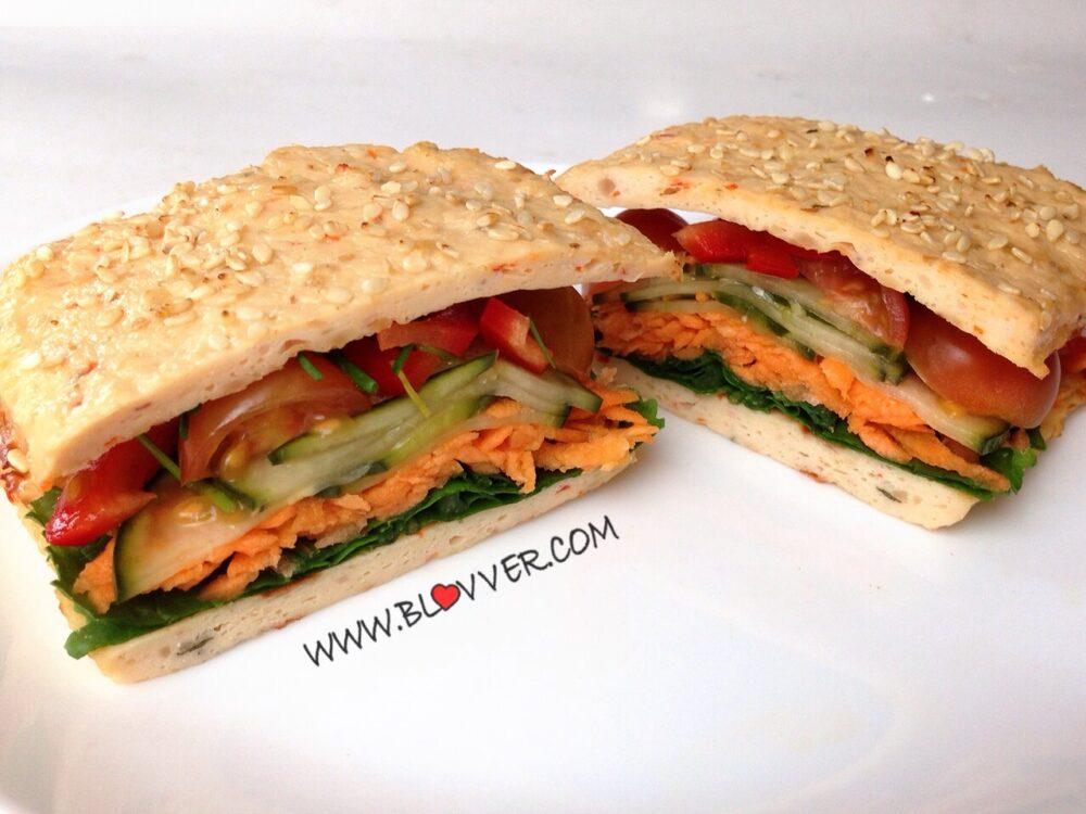 Sándwich de pollo sin pan