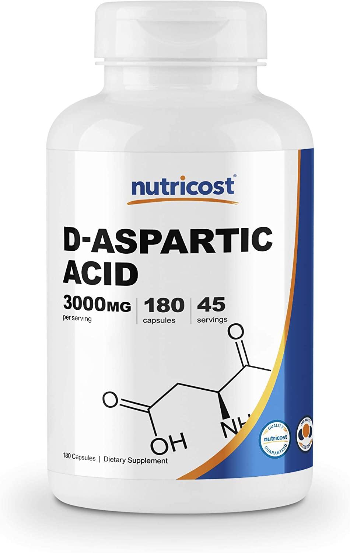 Tome suplementos de ácido D-aspartico