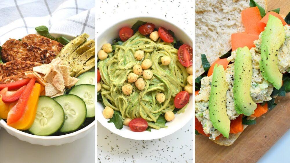 Un completo plan de comidas vegetarianas y un menú de muestra