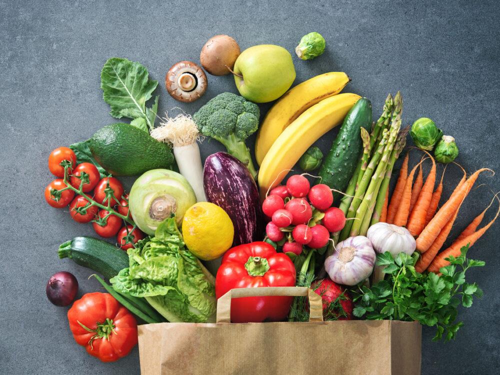 Verduras y verduras de hoja verde